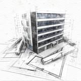 Architecture concept sketch - 228175435