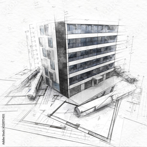 Poster Architecture concept sketch