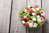 Fresh vegetables greek salad - 228177489
