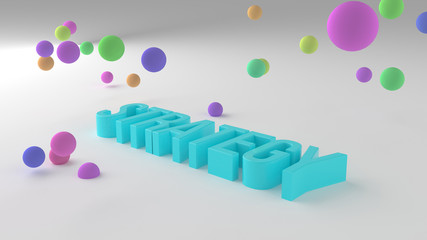 Strategy, business conceptual colorful 3D rendered words. Creativity, positive, alphabet & artwork. © BentChang