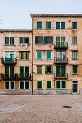 Streets and buildings in Venice, Italy