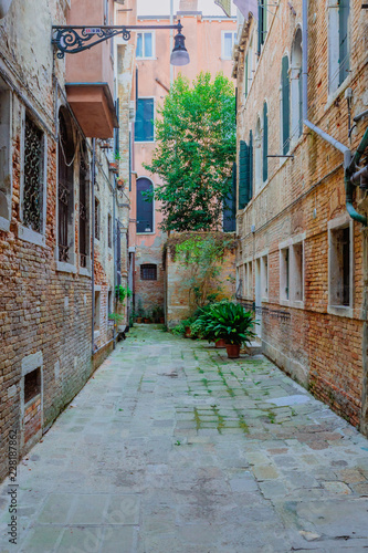 Streets and buildings in Venice, Italy - 228187862