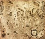 Old vintage fantasy map   - 228192445