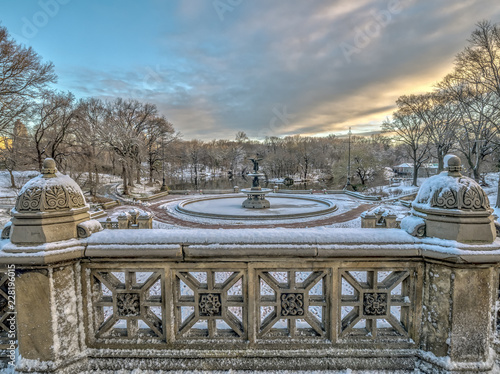 Foto Murales Central Park, New York City in winter