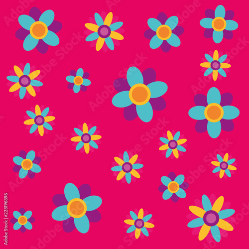 flowers decoration ornament floral pattern - 228196896