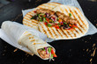 grilled tortilla wrap - 228200482
