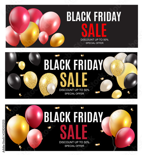 Czarny piątek sprzedaż napis szablon projektu baner. Ilustracji wektorowych