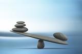 Spa concept with zen basalt stones - 228204886