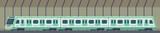 Passanger modern electric high-speed train. Railway subway or metro transport in tunnel. Underground train Vector illustration flat style.