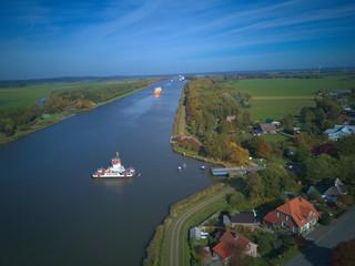 Nord-Ostsee-Kanal. Vogelperspektive. © mr. tabletop