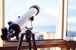 telescope on the balcony, Telescope on the tripod.