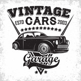 vintage  hot rod emblem design