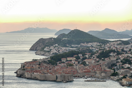 view of the town in greece, digital photo picture as a background