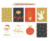 Collection Christmas gift tags in Vector. Merry Christmas gift tags © Pixejoo