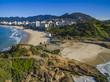 Quadro Arpoador Beach, Devil's Beach, Ipanema district of Rio de Janeiro Brazil, South America.