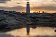 Peggys Point Lighthouse Sunset
