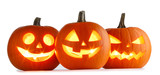 Halloween Pumpkins on white - 228259273