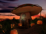 halloween and the fantasy mushroom - 228263660