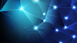 Abstract blue light and shade creative technology background. Vector illustration. - 228267619