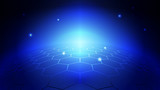 Abstract blue light and shade creative technology background. Vector illustration. - 228268005