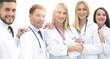 Leinwanddruck Bild - portrait of successful medical team