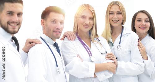 Leinwanddruck Bild portrait of successful medical team