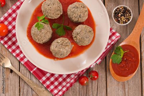 Meatballs with tomato sauce.  - 228272295