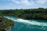 NIAGARA FALLS, ONTARIO, CANADA - MAY 21st 2018: Whirlpool Aero car carrying riders across the Niagara Whirlpool