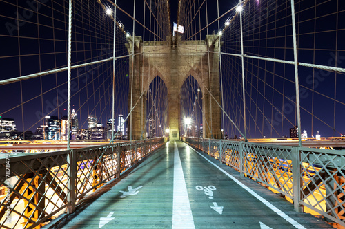 Fototapeta landscape of brooklyn bridge