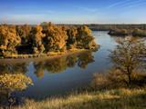 Autumn foliage over lake - 228289088
