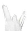isolated transparent natural mountain crystals