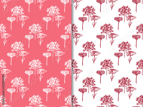 seamless floral pattern with wild flower - 228293289