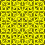 Checkered rectangle and triangle pattern with yellow and black colors. Vector geometric abstract for wallpaper and textile print.