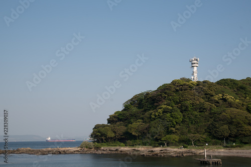 lighthouse and sea in Japan - 228309037