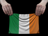 Irish flag in hands
