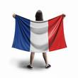 Leinwandbild Motiv Women and French flag