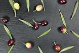 olives on stone - 228321495