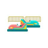 Bumper car, amusement park element vector Illustration on a white background