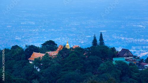 Fridge magnet Doi Suthep Temple in Chiang Mai Thailand