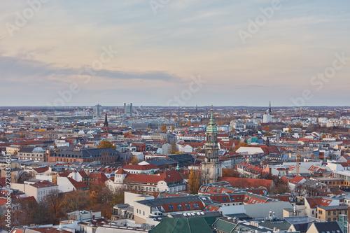 Foto Murales Berlin City als Luftaufnahme am Tag