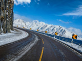 Road in Norway in winter - 228340234