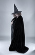 Old witch in black