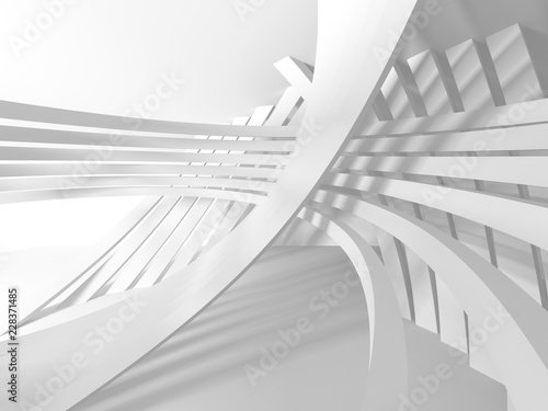 Abstract Modern White Architecture Background - 228371485