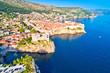 Leinwanddruck Bild Historic city of Dubrovnik aerial panoramic view
