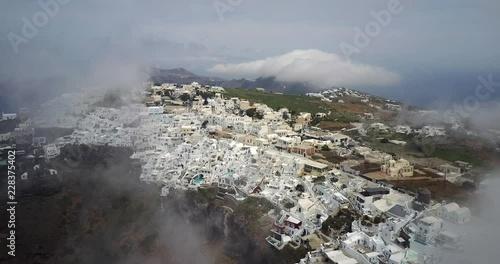 Aerial of Santorini, Greece