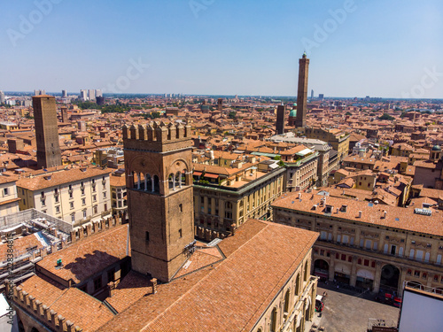 Foto Murales Aerial view of Bologna Italy