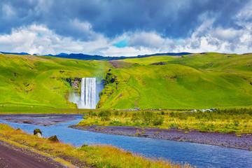 Huge waterfall and creek