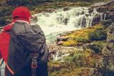 Rainy Trail with Waterfall - 228403491