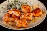 Salmon kebab shashlik - 228406297
