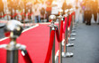 Quadro red carpet and barrier on entrance